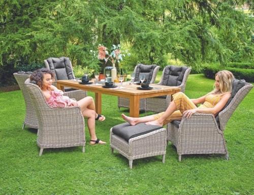 Bequeme Garten-Sitzgruppe