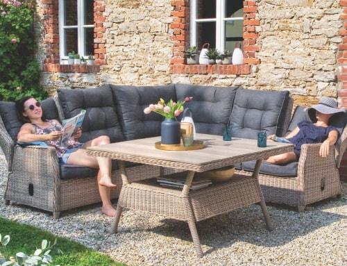 Garten-Sitzgruppe für die ganze Familie!