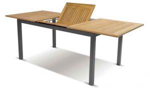 Gartentisch mit Teakholzplatte