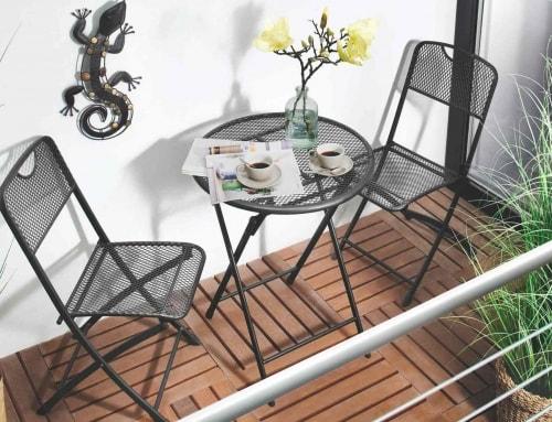 Balkonsitzgruppe Stahlrohrgestell