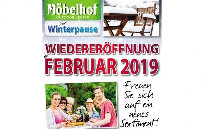 Outdoorcenter Winterpause Möbelhof Adersheim
