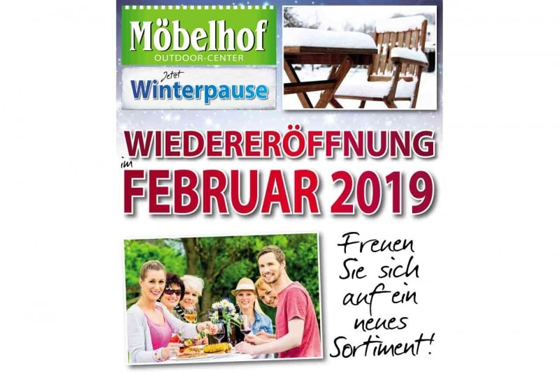 Outdoorcenter Winterpause Möbelhof Adersheim