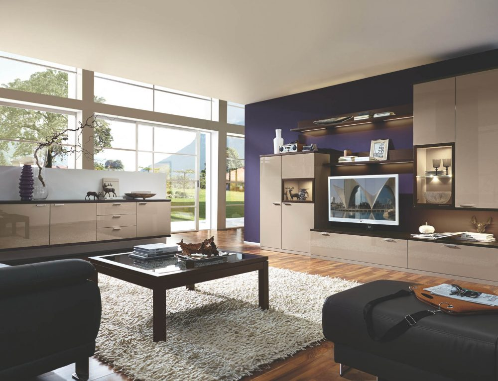 wohnwand calando wei hochglanz m belhof adersheim. Black Bedroom Furniture Sets. Home Design Ideas