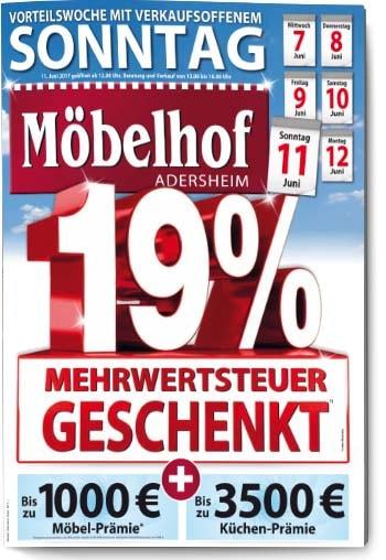 Titel Eigenprospekt Möbelhof Adersheim